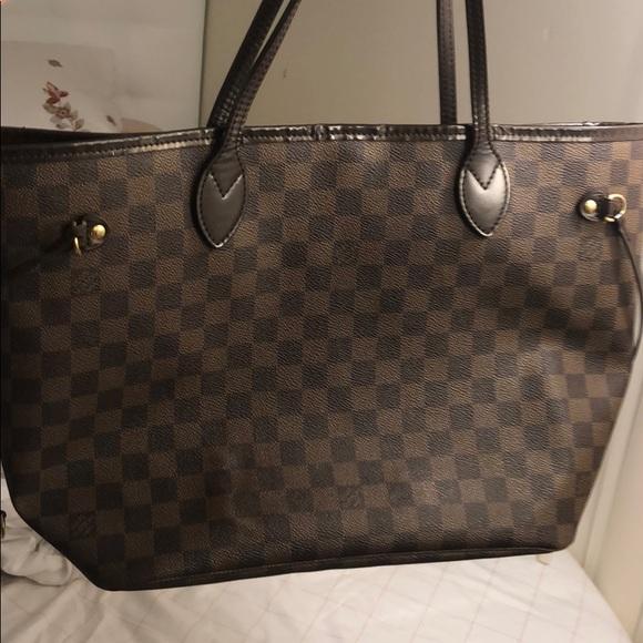 "Louis Vuitton Handbags - Louis Vuitton ""neverfull Damier Ebene"" size mm."